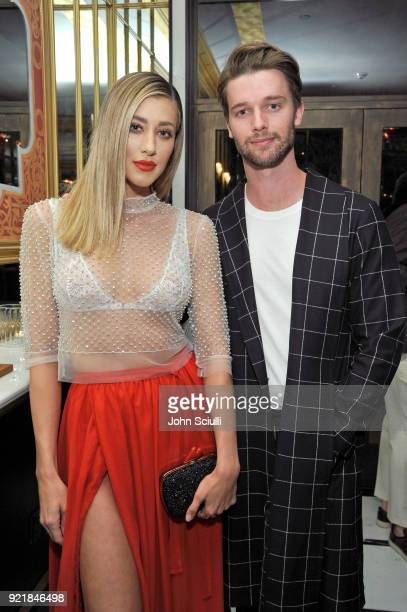 Jessica Serfaty and Patrick Schwarzenegger attend GQ and Oliver Peoples Celebrate Timothee Chalamet March Cover Dinner at Nomad Los Angeles on...
