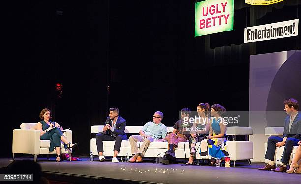 Jessica Shaw moderator Entertainment Weekly Silvio Horta Tony Plana Mark Indelicato Ana Ortiz America Ferrera and Eric Mabius attend the Ugly Betty...