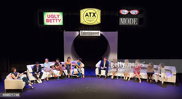 Jessica Shaw moderator Entertainment Weekly Silvio Horta Tony Plana Mark Indelicato Ana Ortiz America Ferrera Eric Mabius Ashley Jensen Judith Light...