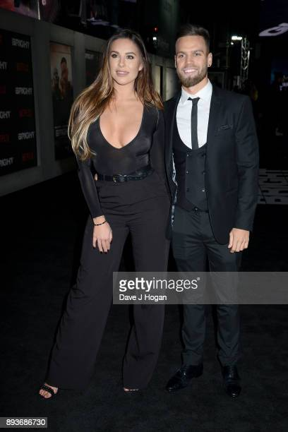 Jessica Shears and Dominic Lever attend the European Premiere of 'Bright' held at BFI Southbank on December 15 2017 in London England