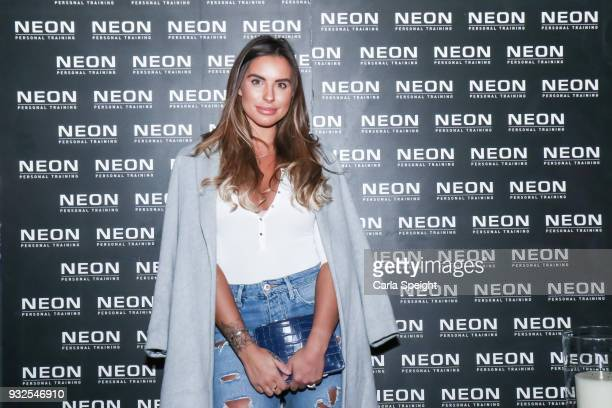 Jessica Shears attends the launch of Neon health food kitchen on March 15 2018 in Wilmslow England