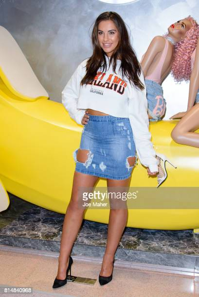 Jessica Shears during the Missguided Photocall at Bluewater Shopping Centre on July 15 2017 in Greenhithe England