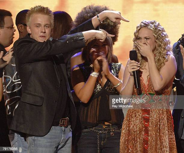 Jessica Sierra Anthony Fedorov and American Idol Season 4 Winner Carrie Underwood from Checotah Oklahoma