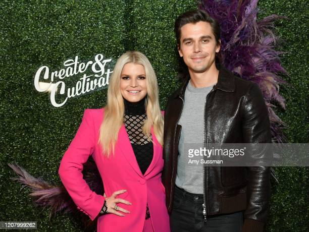Jessica Simpson and Antoni Porowski attend Create & Cultivate Los Angeles at Rolling Greens Los Angeles on February 22, 2020 in Los Angeles,...