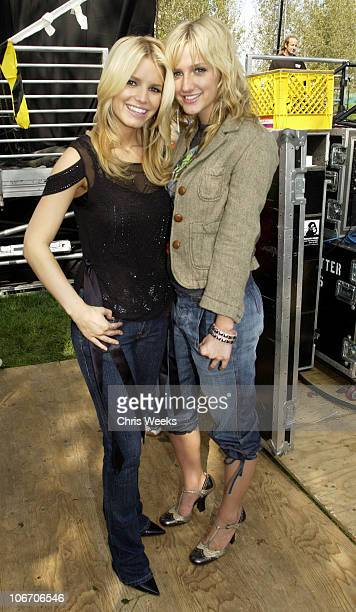 Jessica Simpson and Ashlee Simpson during TOOPALOOZA hosted by CLIKITS at LEGOLAND in Carlsbad California United States