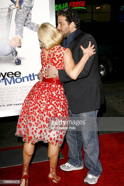"""Jessica Simpson and Brett Ratner during """"Employee of the Month"""" Premiere - Arrivals at Mann's Chinese Theatre in Hollywood, California, United States."""
