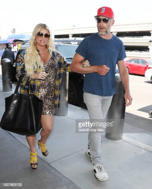 Jessica Simpson and Eric Johnson are seen on July 30 2018 in Los Angeles CA