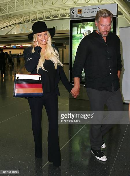 Jessica Simpson and Eric Johnson are seen on September 7 2015 in New York City