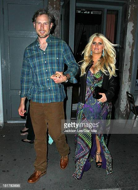Jessica Simpson and Eric Johnson as seen on September 10, 2012 in New York City.