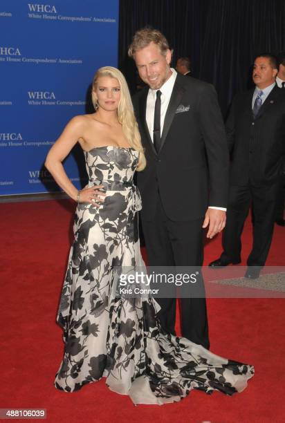 Jessica Simpson and Eric Johnson attend the 100th Annual White House Correspondents' Association Dinner at the Washington Hilton on May 3, 2014 in...
