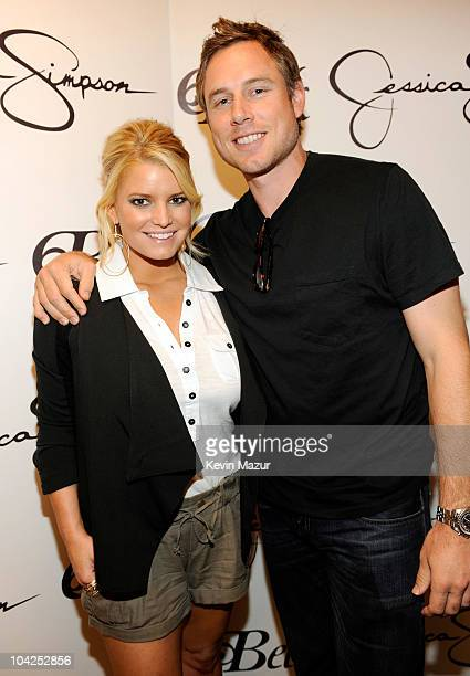 Jessica Simpson and Eric Johnson celebrates the Find Your Magic at Macy's Jessica Simpson Collection in-store event at Macy's Southpark Mall on...
