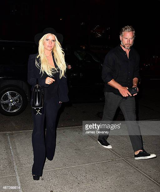 Jessica Simpson and Eric Johnson seen on the streets of Manhattan on September 7 2015 in New York City