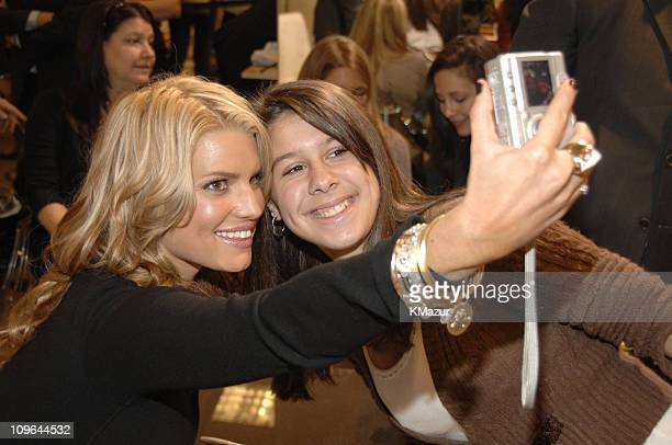 Jessica Simpson and fan during Jessica Simpson Special Appearance to Promote Eponymous at Nordstrom at Garden State Plaza in Paramus New Jersey...