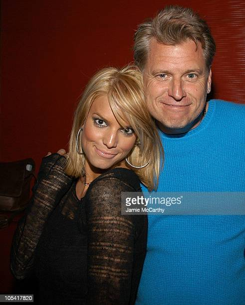 """Jessica Simpson and Joe Simpson during """"Guess Who"""" New York City Premiere - After Party at Marquee in New York City, New York, United States."""