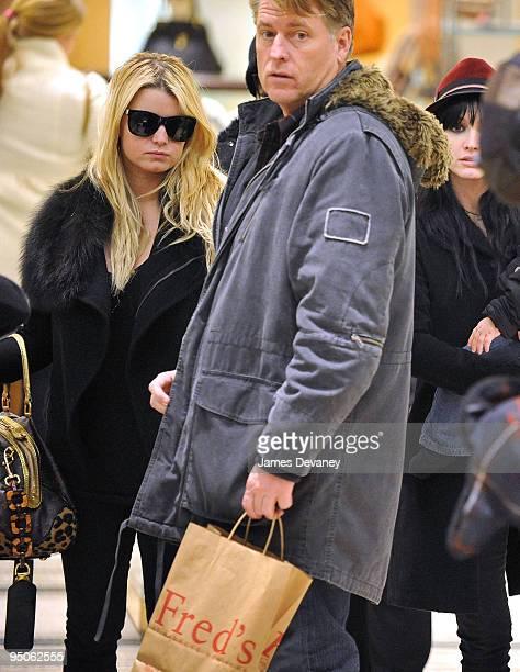 Jessica Simpson and Joe Simpson seen leaving Barneys on December 22 2009 in New York City