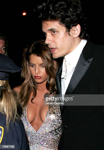 Jessica Simpson and John Mayer at the Metropolitan Museum of Art in New York City New York