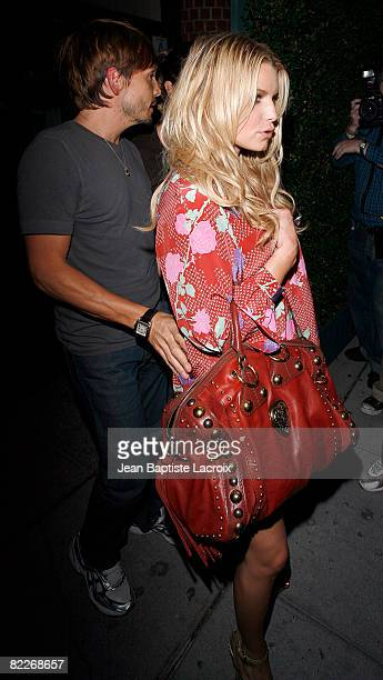 Jessica Simpson and Ken Paves are seen on August 11 2008 in Beverly Hills California