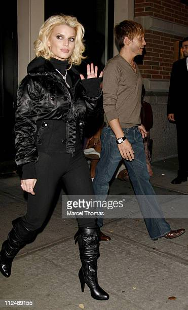 Jessica Simpson and Ken Paves during Employee of the Month Party at TenJune in New York City New York United States