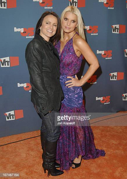Jessica Simpson and mother Tina Simpson during VH1 Big in '05 - Arrivals at Sony Studios in Los Angeles, California, United States.