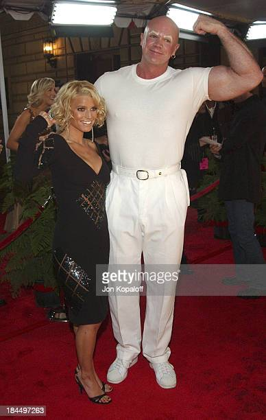 Jessica Simpson and Mr Clean during 31st Annual People's Choice Awards Arrivals at Pasadena Civic Auditorium in Pasadena California United States