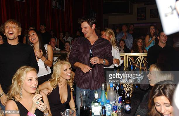 Jessica Simpson and Nick Lachey at Beachers Madhouse