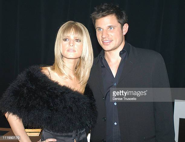 Jessica Simpson and Nick Lachey during 2003 Billboard Music Awards Backstage Creations Gift Retreat Day 2 at MGM Grand Hotel And Casino Resort in Las...