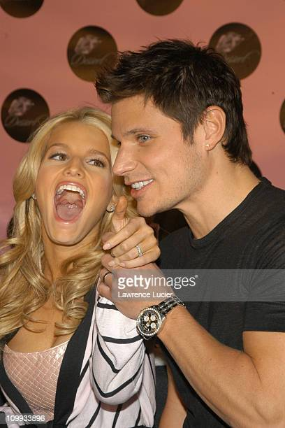 Jessica Simpson and Nick Lachey during Jessica Simpson and Randi Shinder Launch Dessert An Edible Fragrance And Body Care Line at Splashlight Studios...