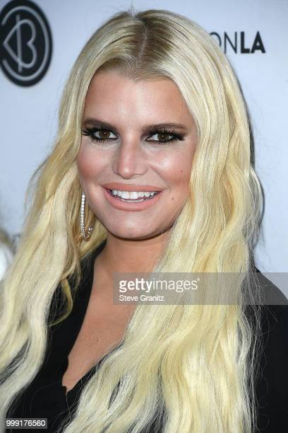 Jessica Simpson arrives at the Beautycon Festival LA 2018 at Los Angeles Convention Center on July 14 2018 in Los Angeles California