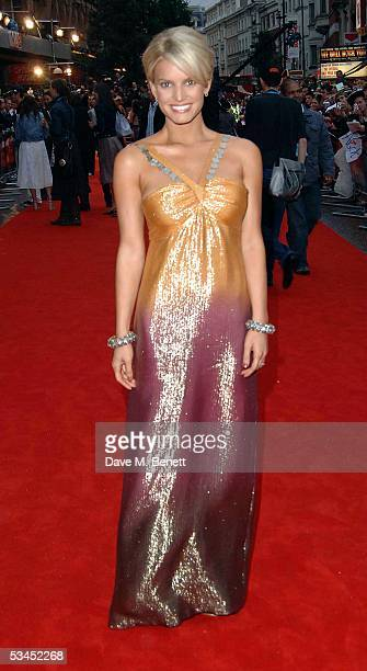"""Jessica Simpson arrives for the UK Premiere of new film, """"The Dukes Of Hazzard"""" at Vue Leicester Square August 22, 2005 in London, England."""