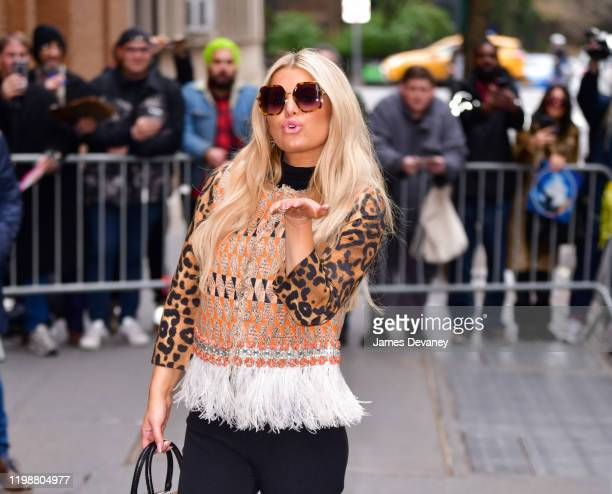 Jessica Simpson arrives to ABC's The View on February 5 2020 in New York City