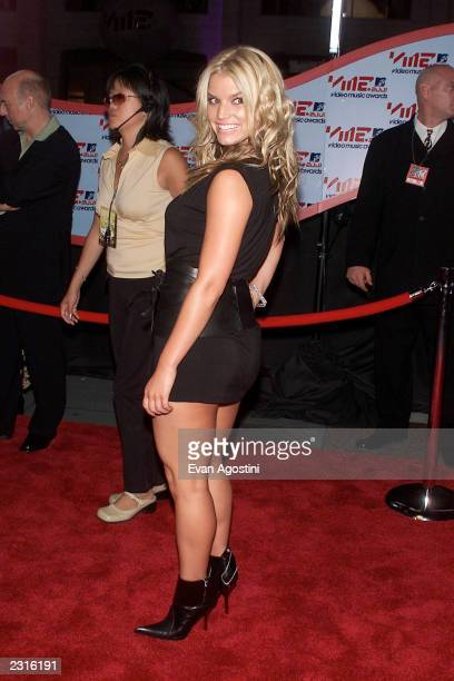 Jessica Simpson arriving at the 2001 MTV Video Music Awards held at the Metropolitan Opera House at Lincoln Center in New York City 9/6/01 Photo by...