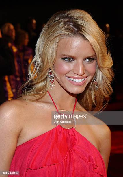 Jessica Simpson arriving at the Official TipOff to NBA AllStar 2004 Entertainment American Express Celebrates the Rewarding Life of Earvin Magic...