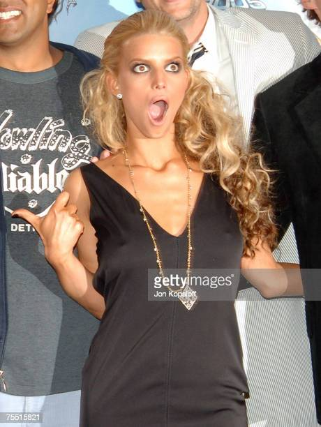 Jessica Simpson at the 2005 MTV Movie Awards Press Room at Shrine Auditorium in Los Angeles California