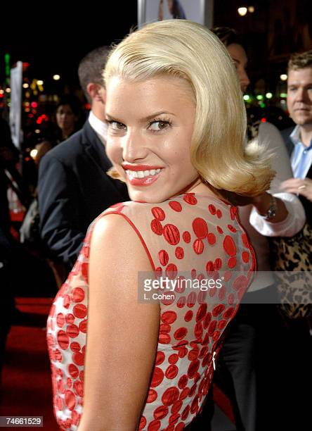 Jessica Simpson at the Mann's Chinese Theater in Hollywood, California