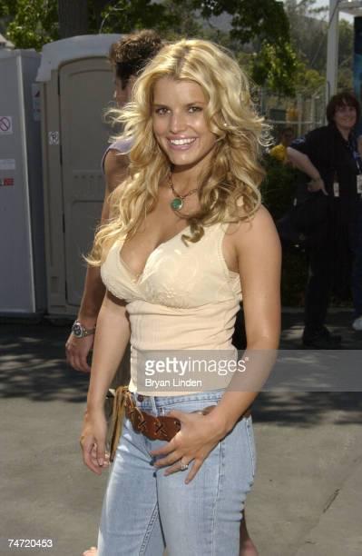 Jessica Simpson at the Rose Bowl in Pasadena California