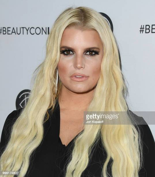 Jessica Simpson attends Beautycon Festival LA 2018 at Los Angeles Convention Center on July 14 2018 in Los Angeles California