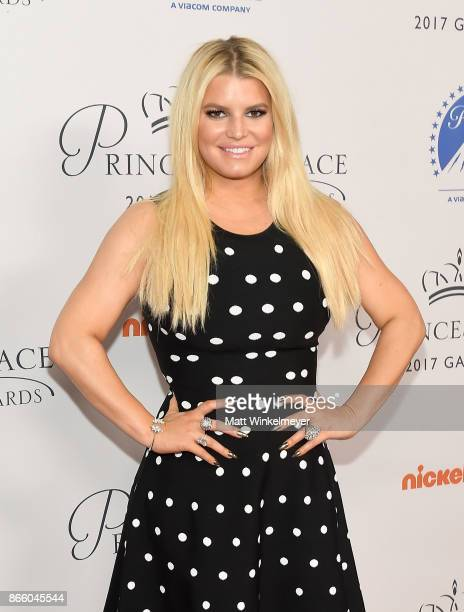 Jessica Simpson attends the 2017 Princess Grace Awards Gala Kick Off Event with a special tribute to Stephen Hillenberg at Paramount Studios on...