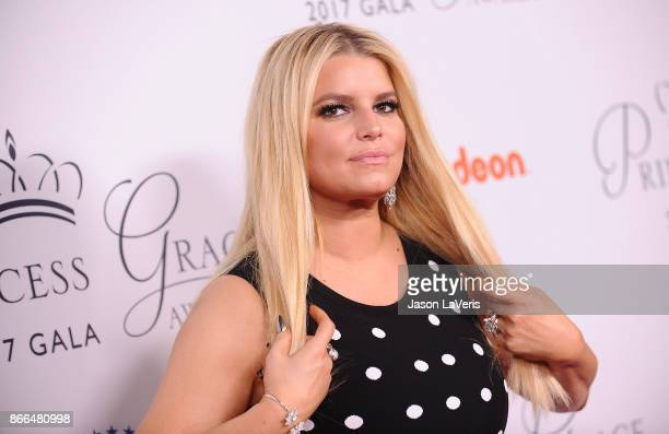 Jessica Simpson attends the 2017 Princess Grace Awards gala kick off event at Paramount Pictures on October 24 2017 in Los Angeles California