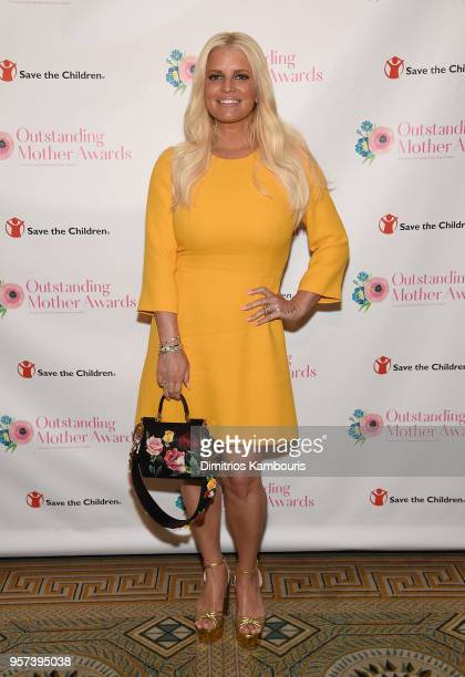 Jessica Simpson attends The 2018 Outstanding Mother Awards at The Pierre Hotel on May 11 2018 in New York City