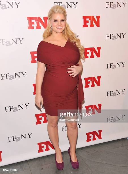 Jessica Simpson attends the 25th Annual Footwear News Achievement Awards at the Museum of Modern Art on November 29 2011 in New York City