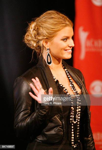 Jessica Simpson attends the 44th annual Academy of Country Music Awards nominations announcement at Country Music Hall of Fame and Museum on February...