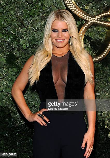 Jessica Simpson attends the Jessica Simpson Collection Presentation Spring 2016 during New York Fashion Week on September 9, 2015 in New York City.