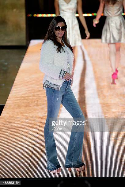 Jessica Simpson Collection on the runway at Macy's Presents Fashion's Front Row at The Theater at Madison Square Garden on September 17, 2015 in New...