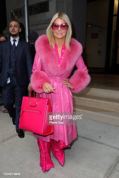 "Jessica Simpson comes out of ""BuzzFeed"" media on February 04, 2020 in New York City."
