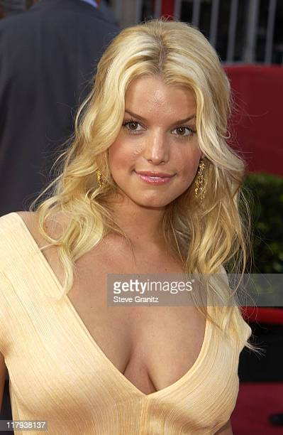Jessica Simpson during 2002 ESPY Awards Arrivals at The Kodak Theater in Hollywood California United States