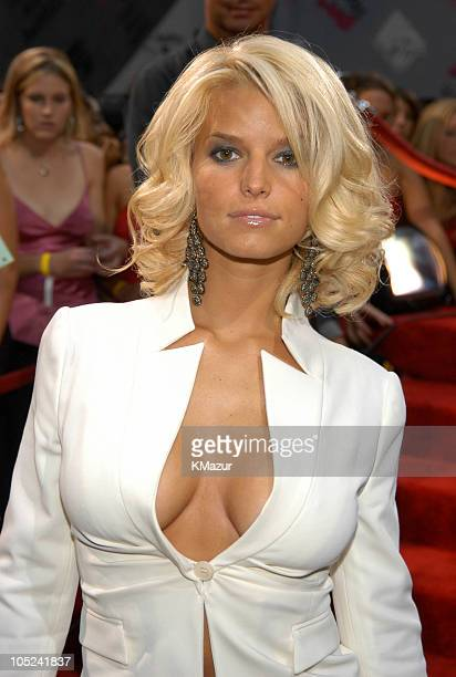 Jessica Simpson during 2003 MTV Video Music Awards Red Carpet at Radio City Music Hall in New York City New York United States