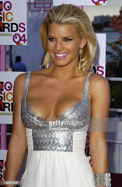 Jessica Simpson during 2004 MTV Video Music Awards Arrivals at American Airlines Arena in Miami Florida United States