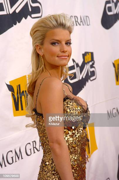 Jessica Simpson during 2004 VH1 Divas Benefitting The Save The Music Foundation Red Carpet at The MGM Grand in Las Vegas Nevada United States