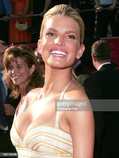 Jessica Simpson during 2005 ESPY Awards Arrivals at Kodak Theatre in Hollywood California United States