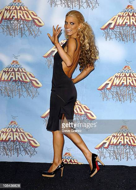 Jessica Simpson during 2005 MTV Movie Awards Press Room at Shrine Auditorium in Los Angeles California United States